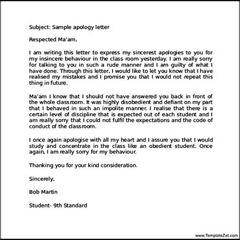 How to write an apology letter to your school teacher